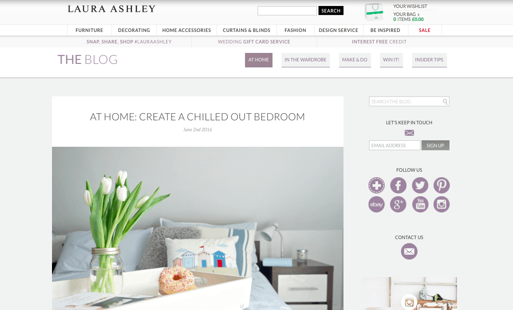 Extraordinary Chaos as featured on Laura Ashley, About Me