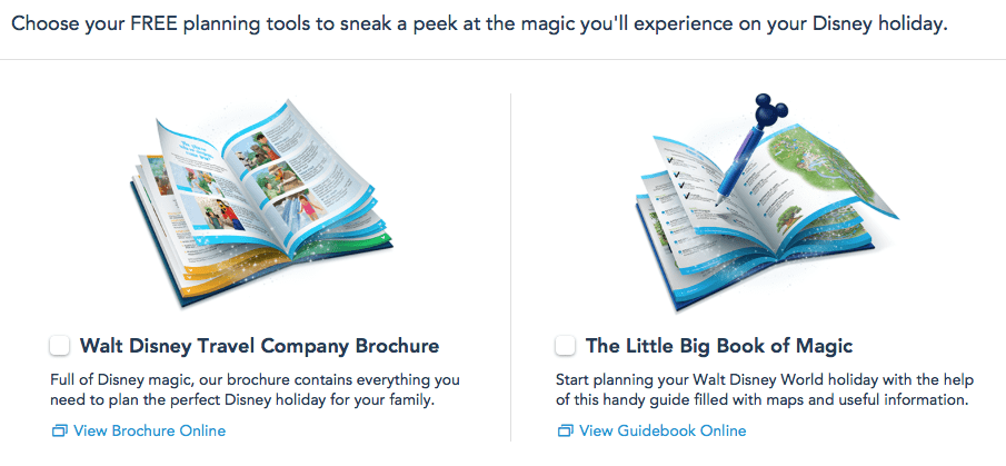 Free Walt Disney World Planning Tools