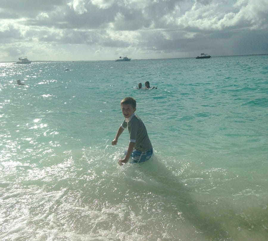 Why the boys love Beaches Resorts Turks And Caicos,The beautiful Caribbean Sea
