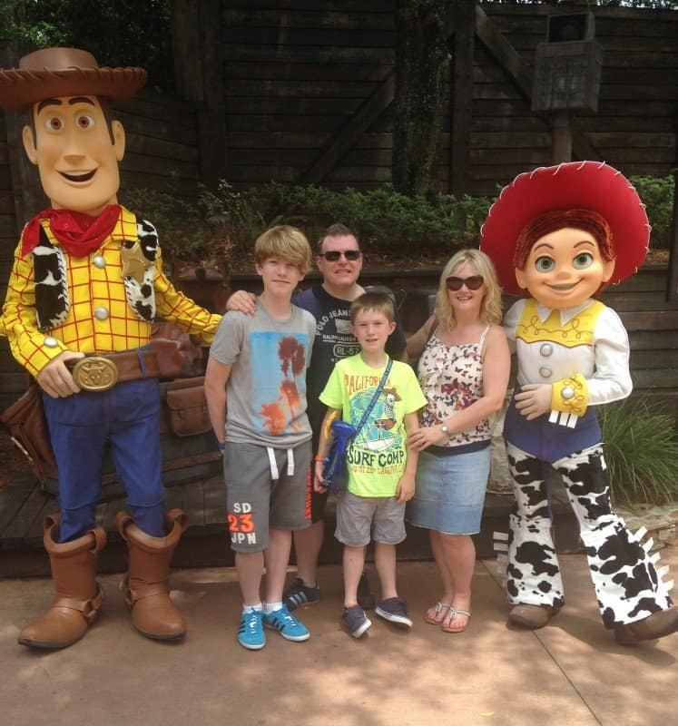 Meeting Woody and Jessie at Frontierland at Magic Kingdom, With Teens And Tweens www.extraordinarychaos.com