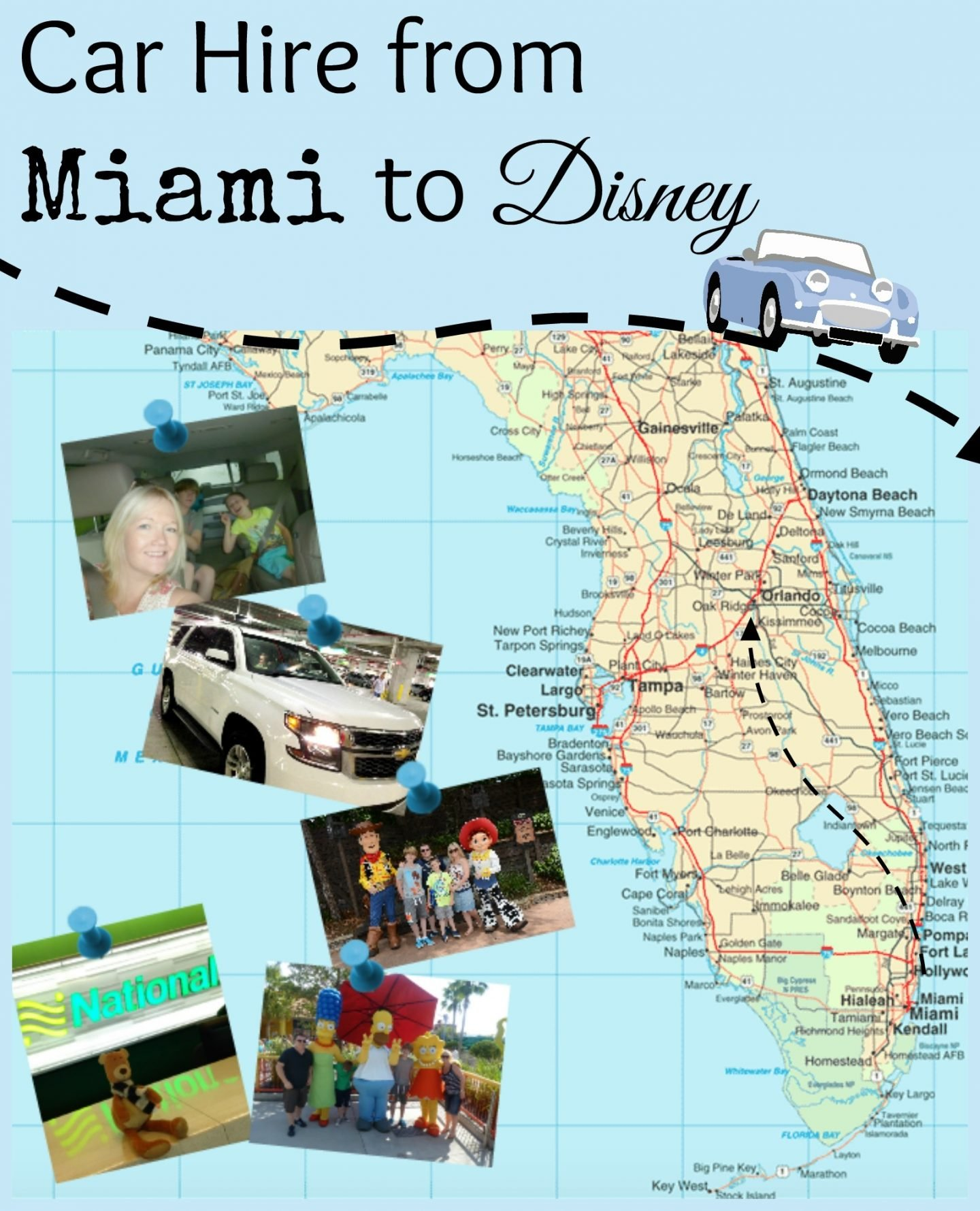 Car Hire From Miami To Disney