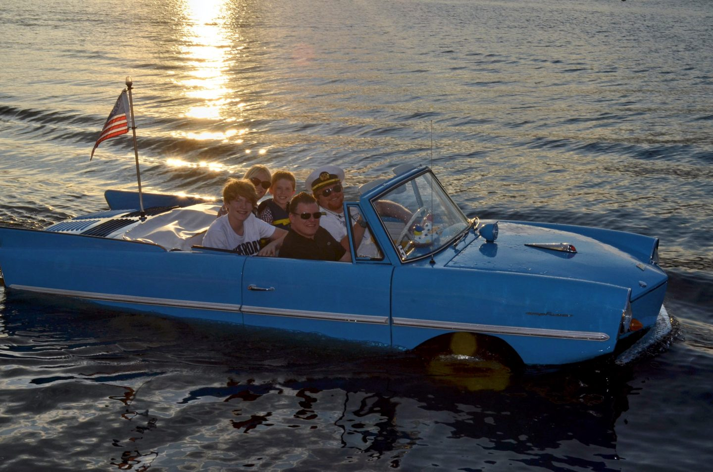 The Amphicars At Downtown Disney