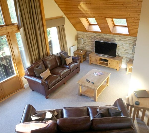 Our wonderful lodge at Slaley Hall Q Lodges, Northumberland