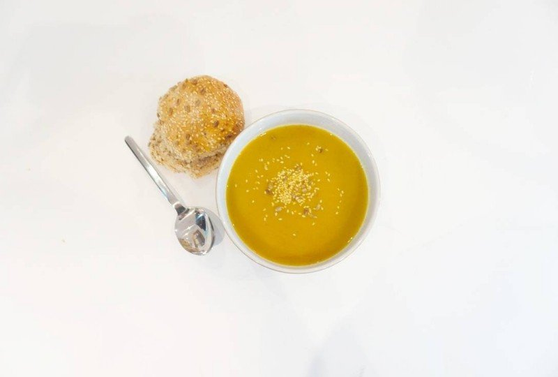 Quick and Easy Low Fat Carrot and Coriander Soup, cooked in my Judge Soup Maker
