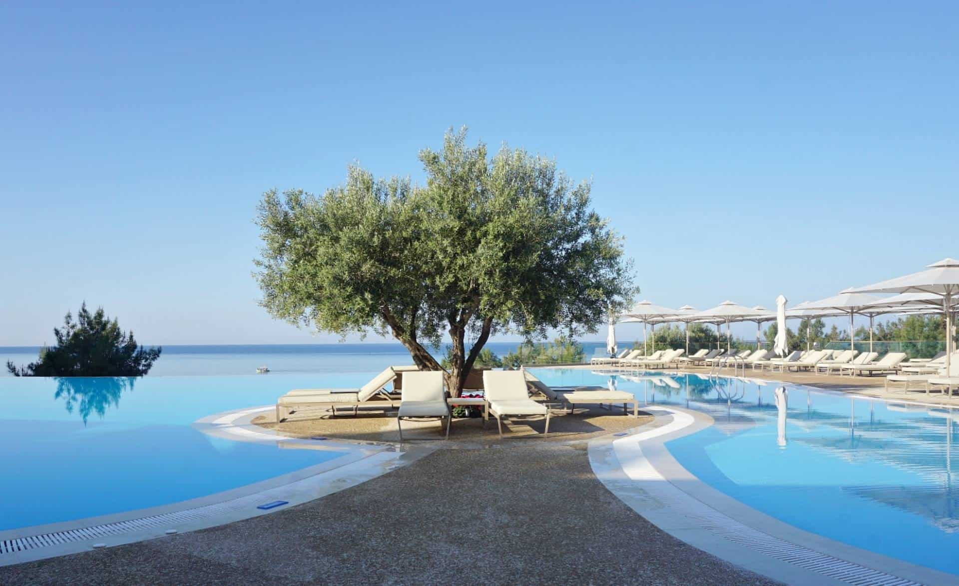 The Main pool at  Oceania Greece