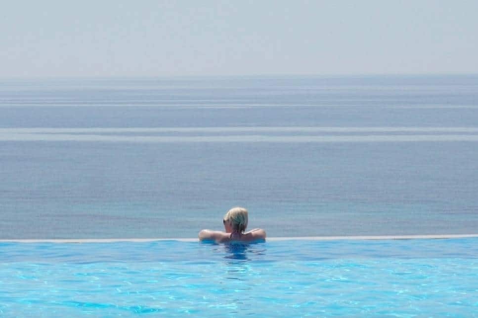 Infinity pools in Greece