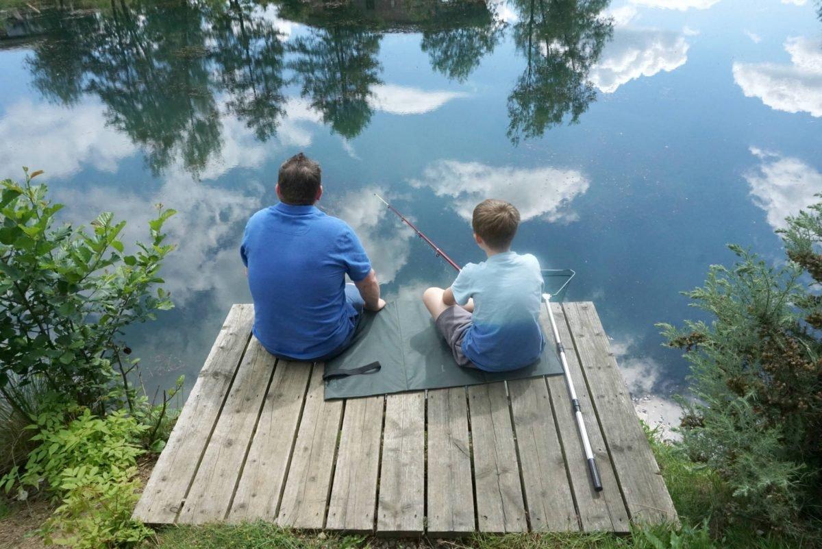 Fishing At Brompton Lakes c