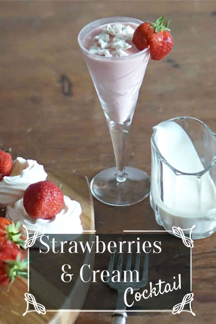 Chilling And Enjoying Strawberries and Cream Cocktails