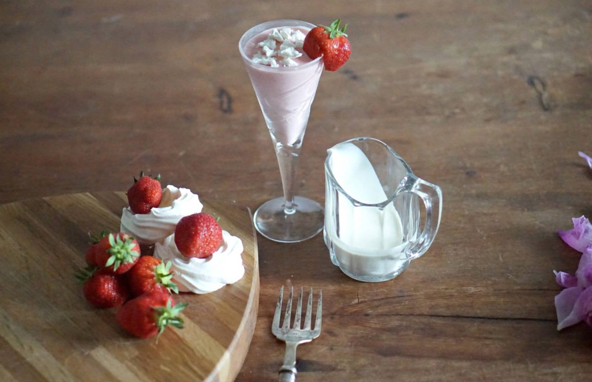 Strawberries and Cream Cocktail