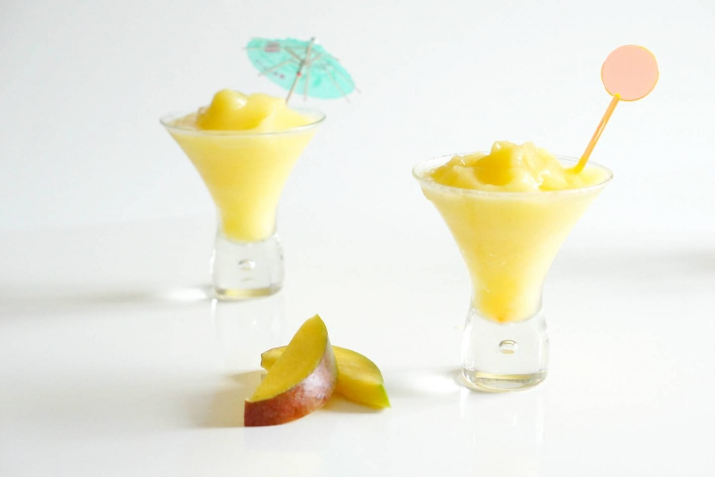 Frozen Mango Daiquiri Cocktail, a delicious frozen cocktail, from my list of easy summer cocktail recipes
