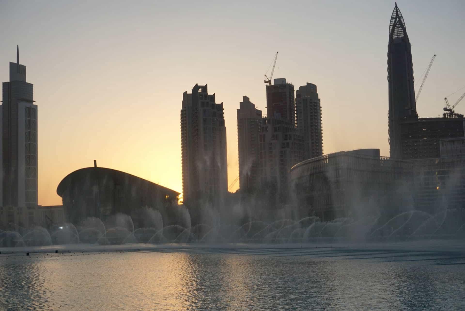 Downtown Dubai At Dusk
