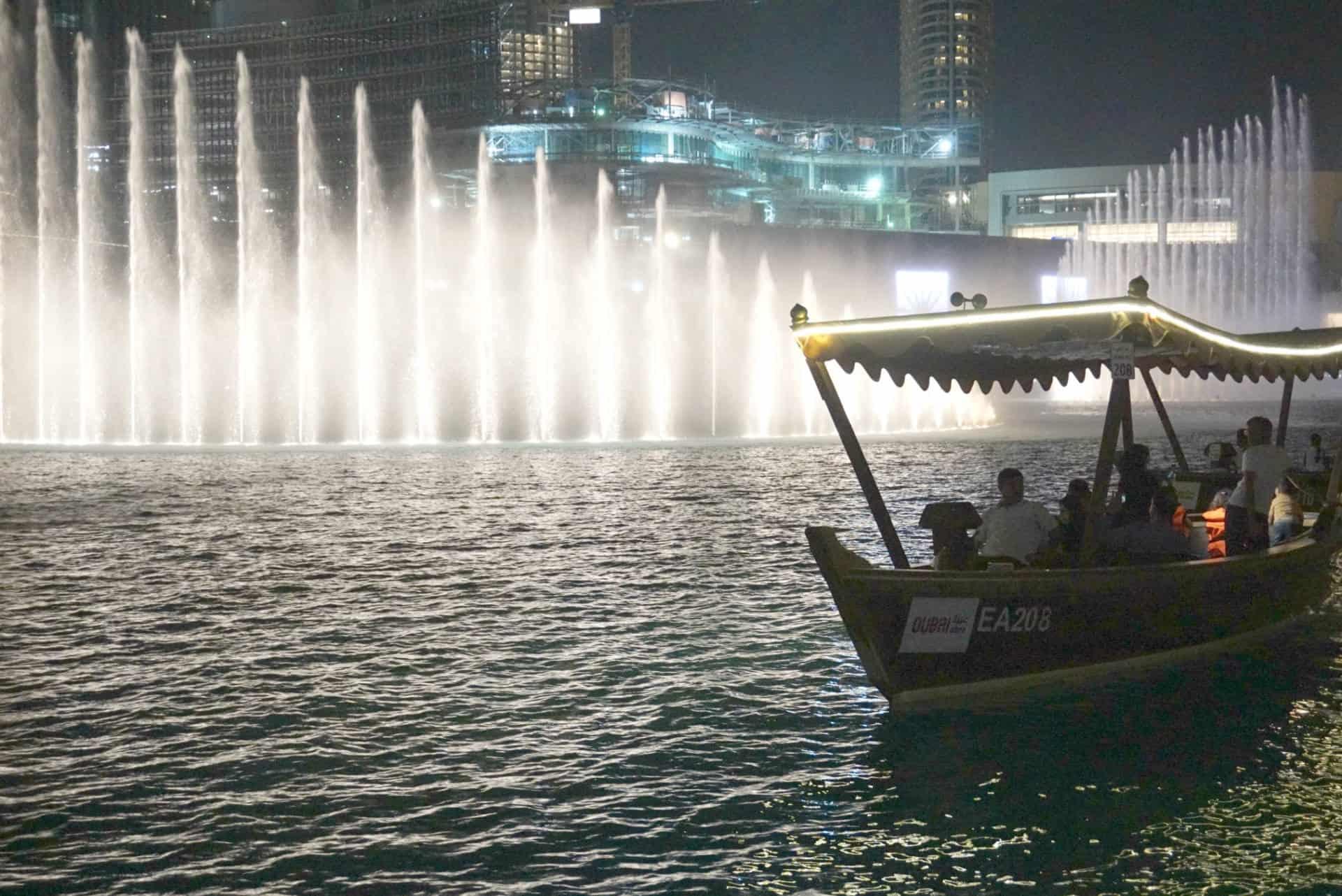 Downtown Dubai and the Dubai Fountains At Dusk