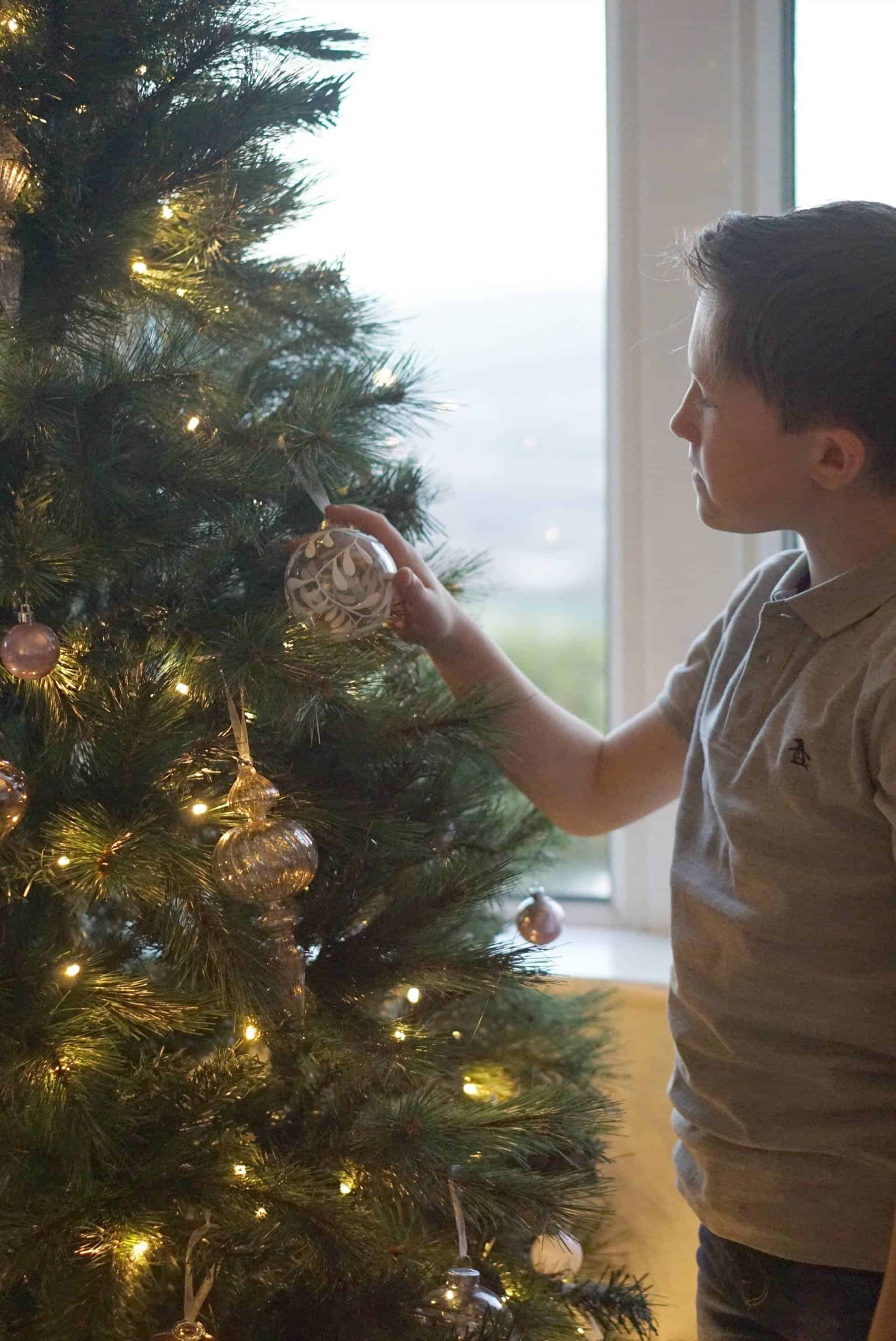Decorating The Christmas Tree With Homebase
