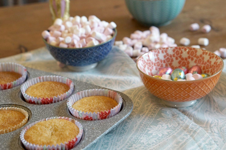 Home Made Delicious Marshmallow Cupcakes