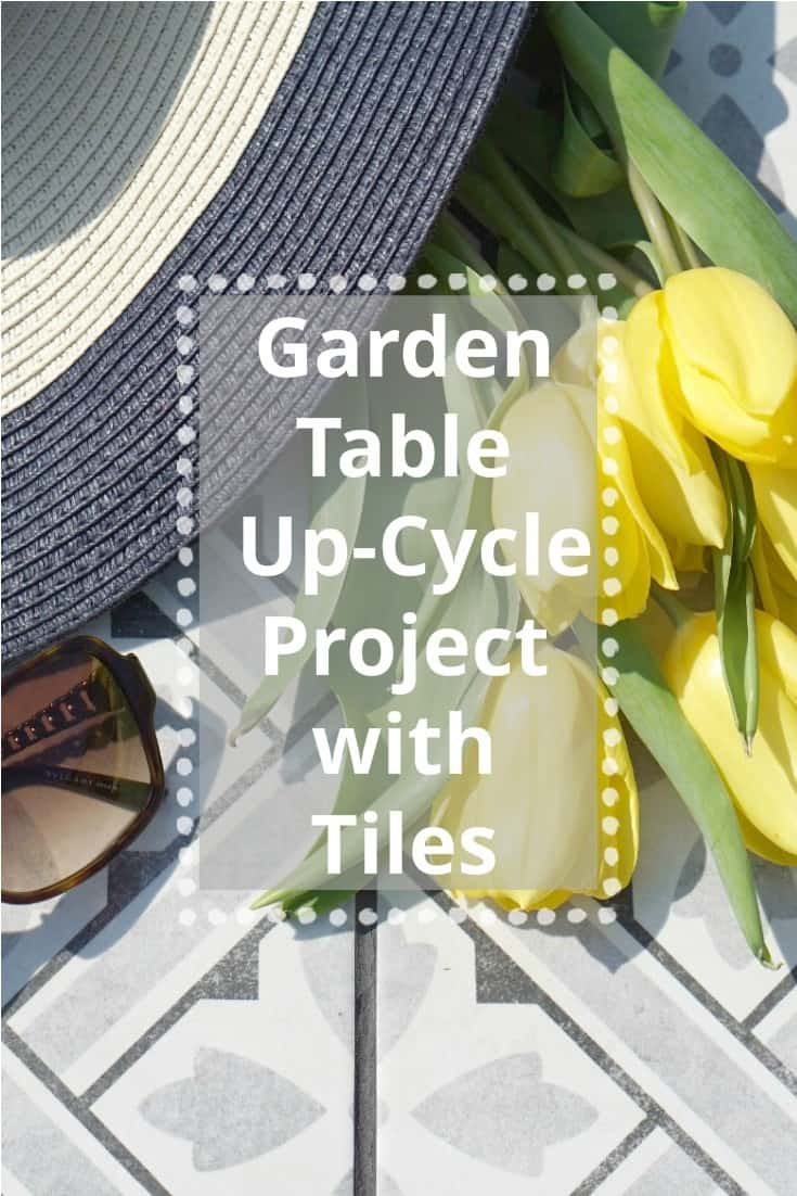 How To Up-Cycle A Garden Table With Leftover Tiles, create a beautiful new garden table out of an old tires table and some leftover tiles.