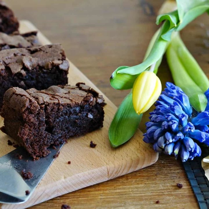 A Great Little Chocolate Brownie Recipe And my shiny new red Kitchen Aid mini