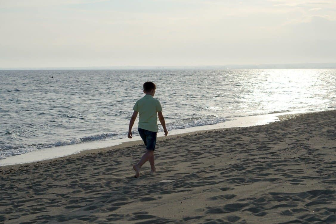 A Beach Walk In Greece