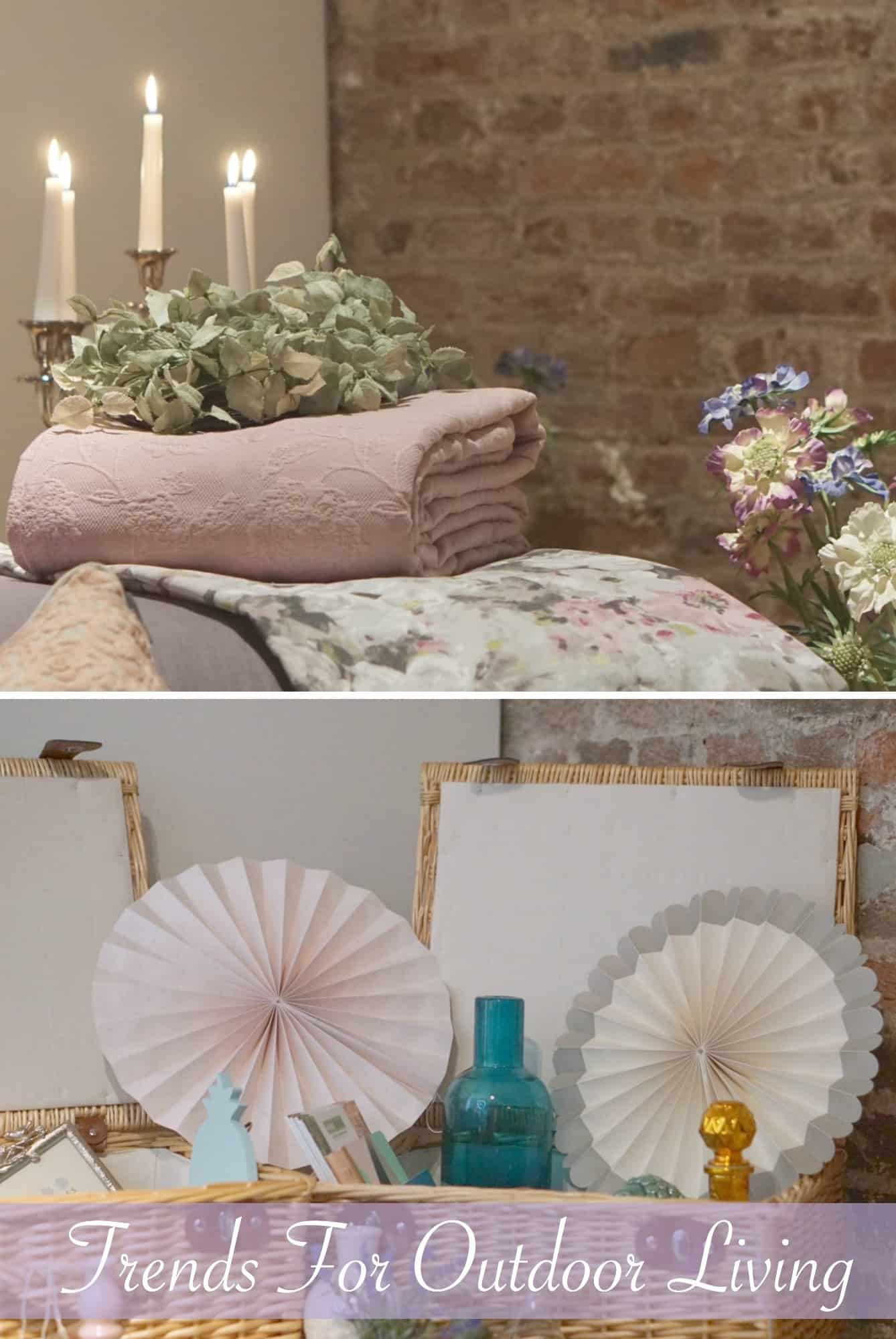 HomeSense Summer Collection and trends and ideas for vintage inspired gardens and yards and carribean bright inspired spaces.