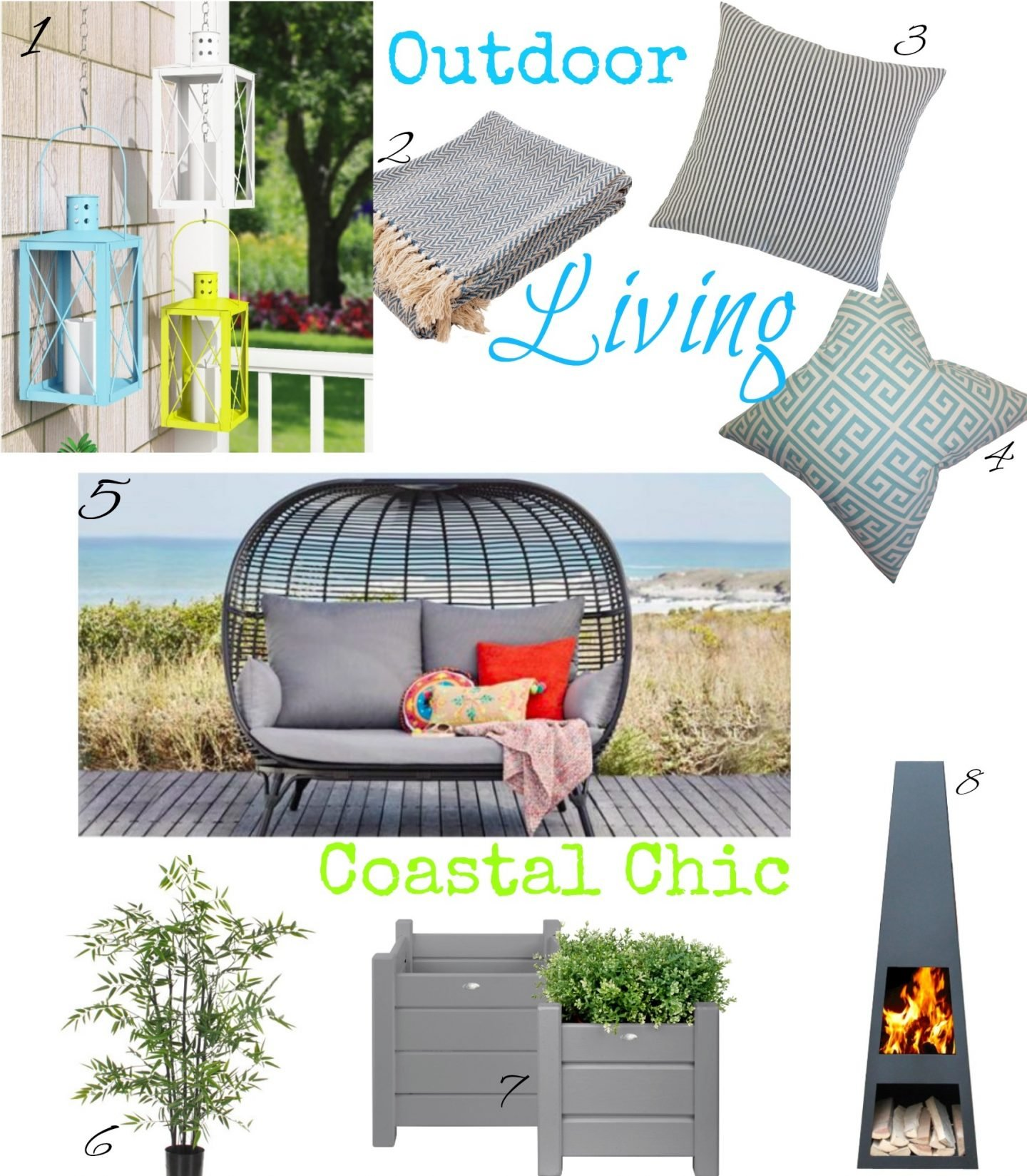 Bringing A Little Coastal Chic Style Garden Style To The Countryside www.extraordinarychaos.com