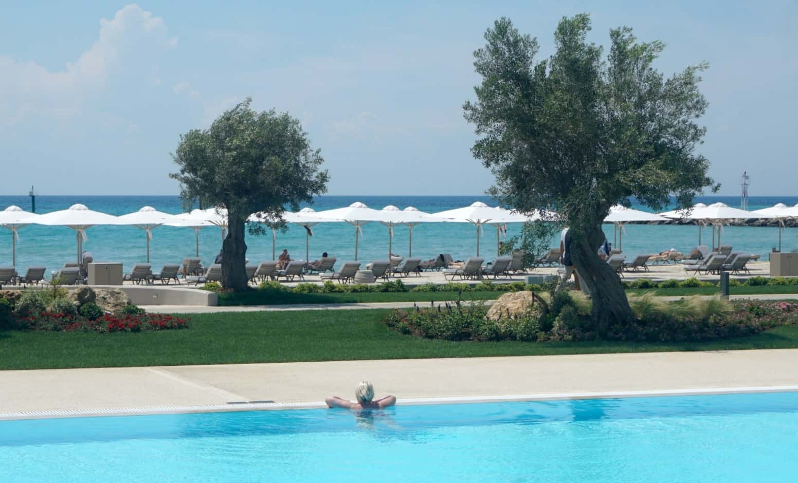 The View of the beach from the pool at SAni Dunes
