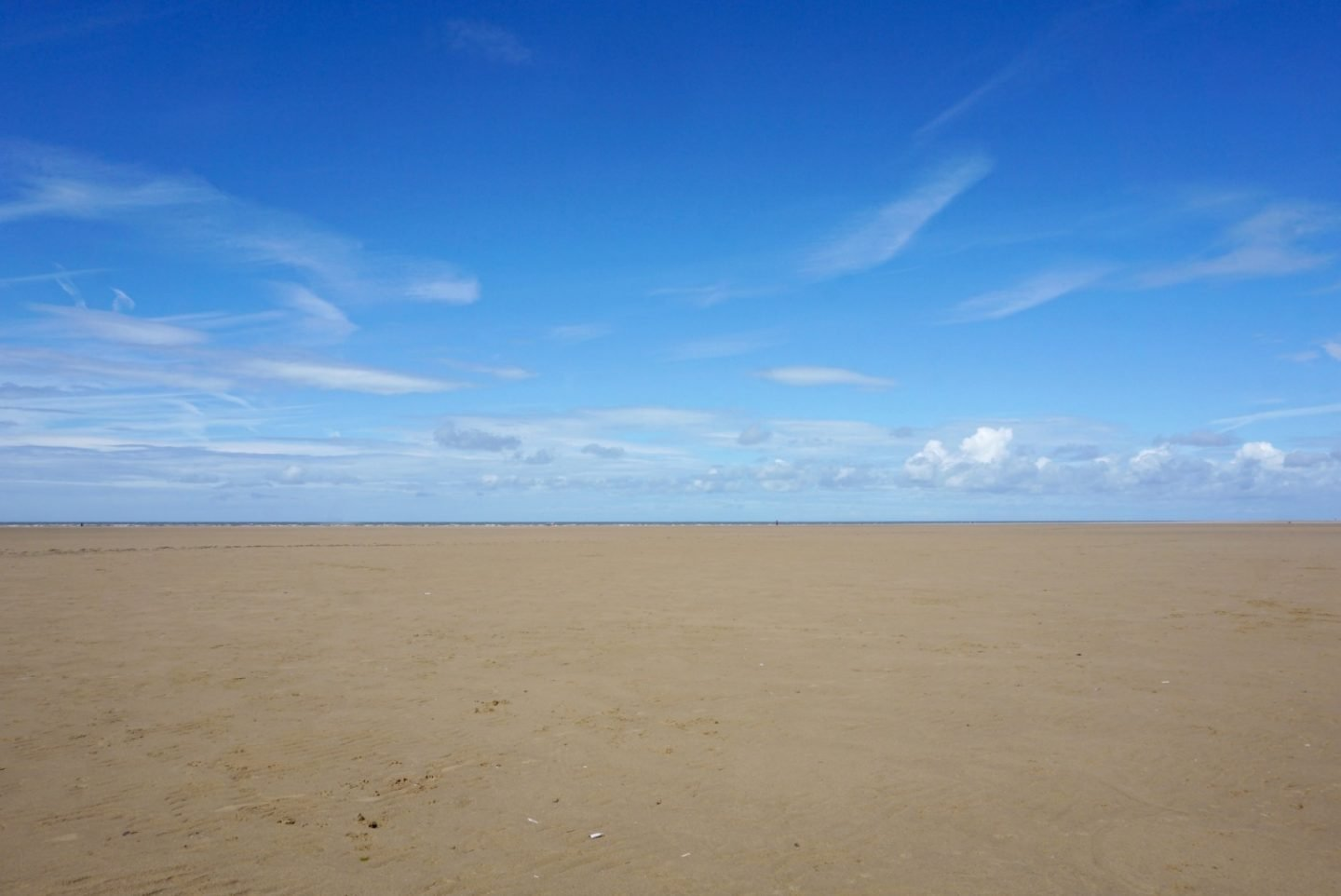 The tide just over a mile out At St Annes www.extraordinarychaos.com