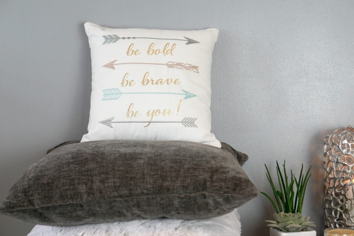 Be bold be brave be you, cosmo cushion Debenhams AW 17 www.extraordinarychaos.com