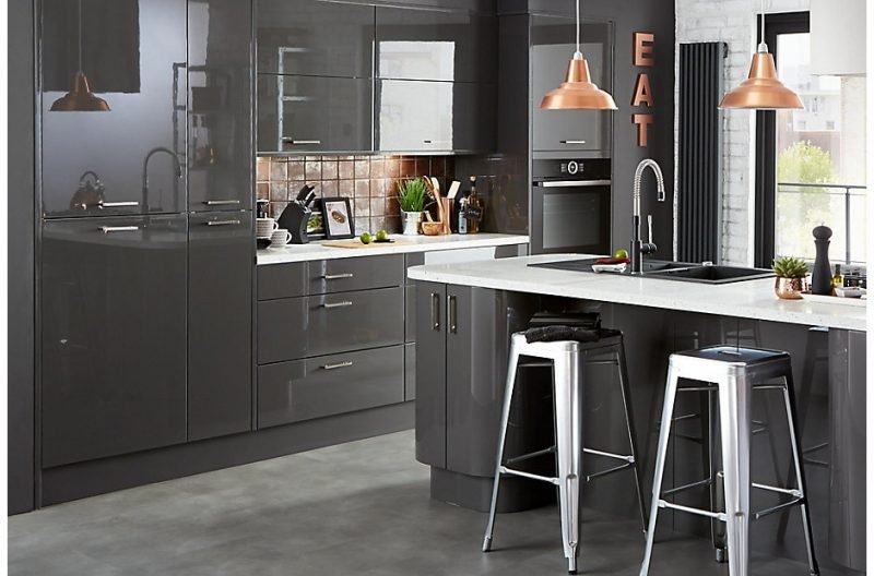 Cl kitchen raffello anthracite room set 1 extraordinary chaos for Cuisine carrelage gris anthracite