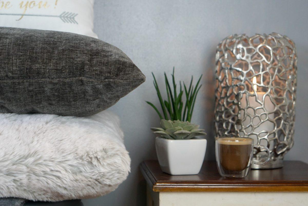 John Rocha - Silver coral shaped pillar silver candle holder Debenhams www.extraordinarychaos.com