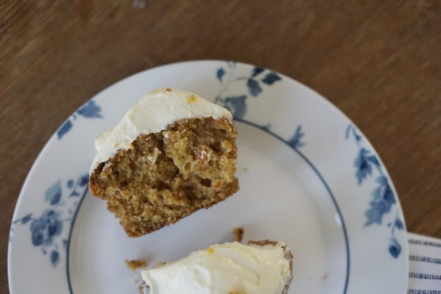 Carrot cake with cream cheese icing toppingwww.extraordinarychaos.com