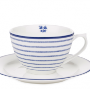Candy Stripe Cup and Saucer