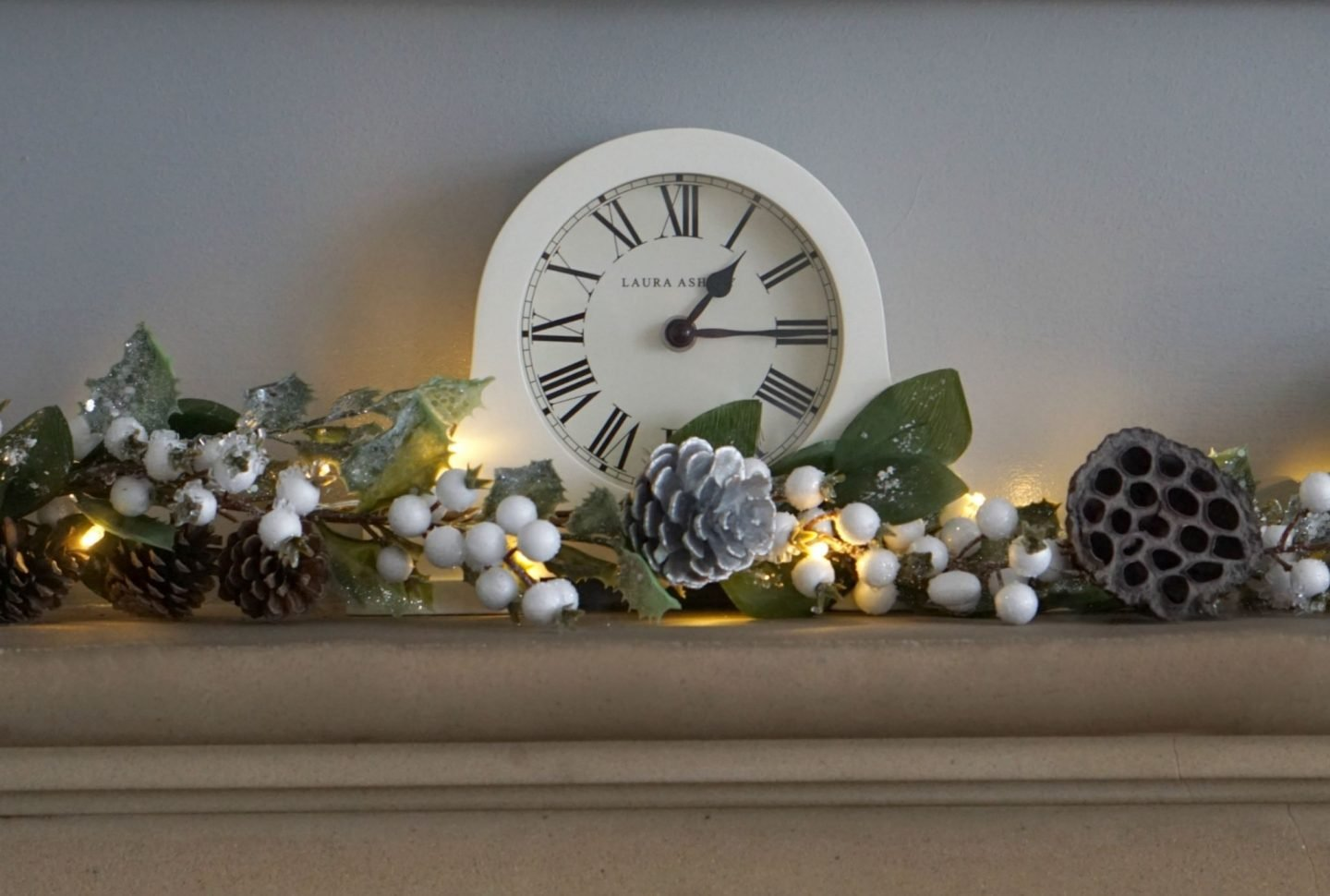 Cream Mantle Clock from Laura Ashely www.extraordinarychaos.com