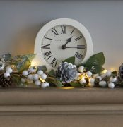 Cream Mantle Clock