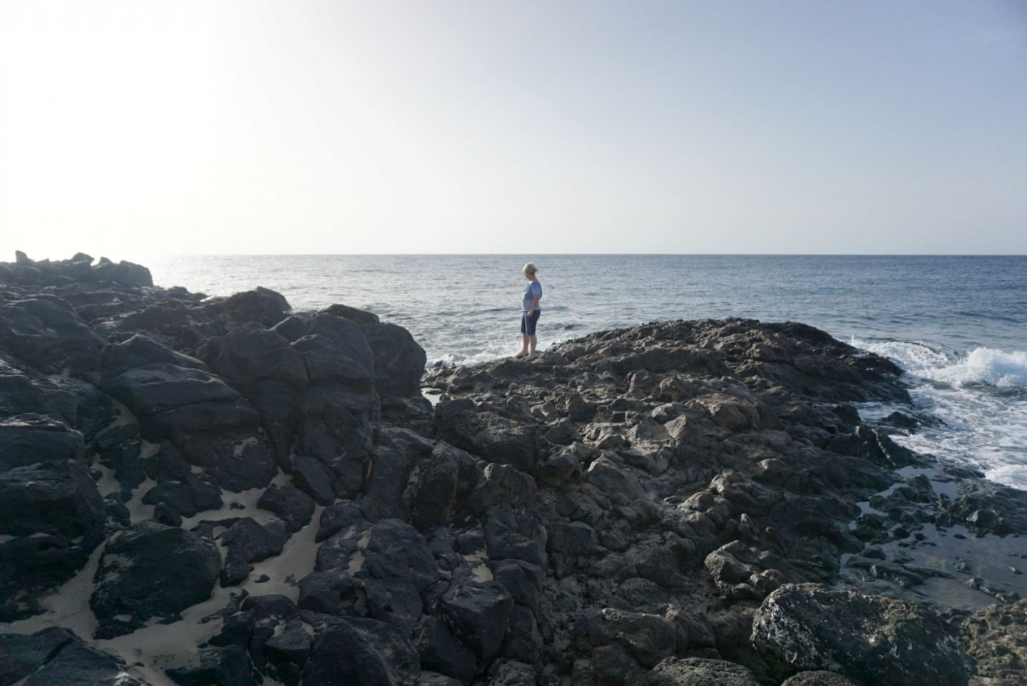 Looking out to sea in Lanzarote
