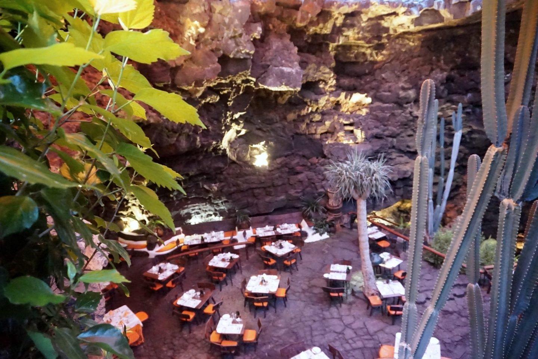 Los Jameos Del Ague Dine in a Volcanic Cave in Lanzarote