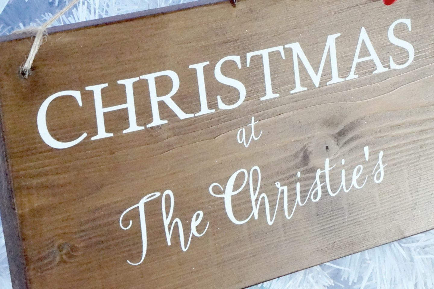 Personalised Door Sign for Chrsitmas