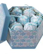 Set of Blue and While Baubles