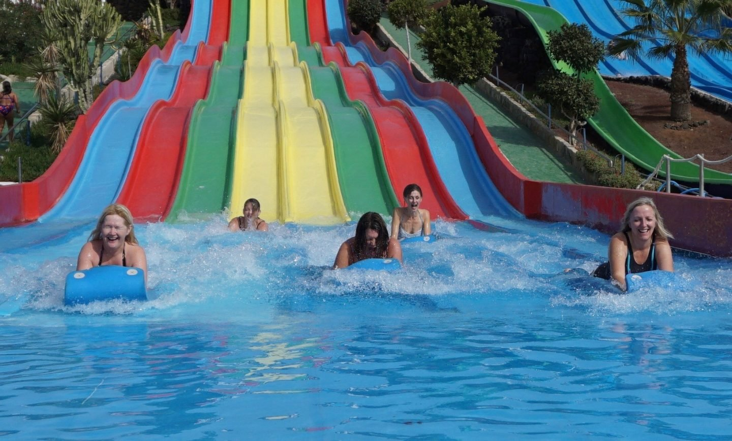 Slide at the Aqua Park in Lanzarote