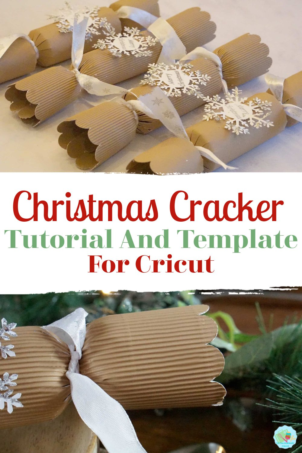 Homemade Christmas Cracker Template For Cricut