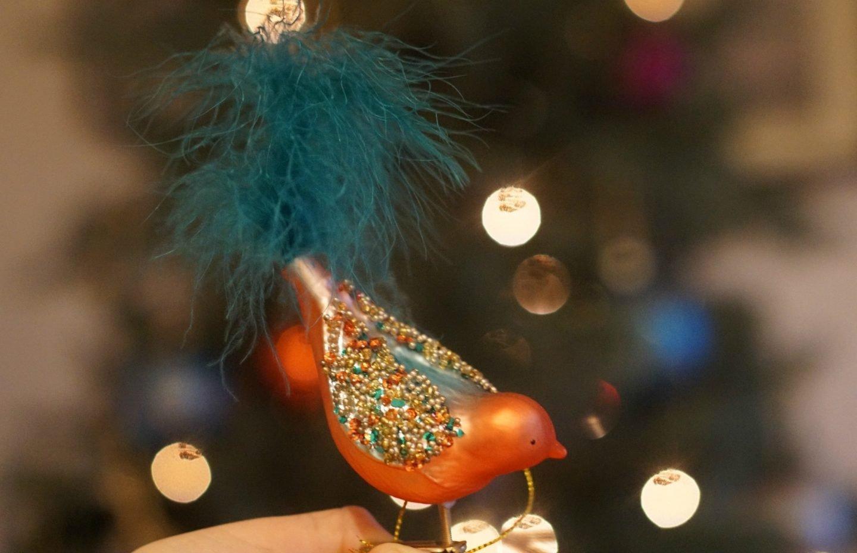 John Lewis Maharaja Christmas bird Decorations www.extraordinarychaos.con