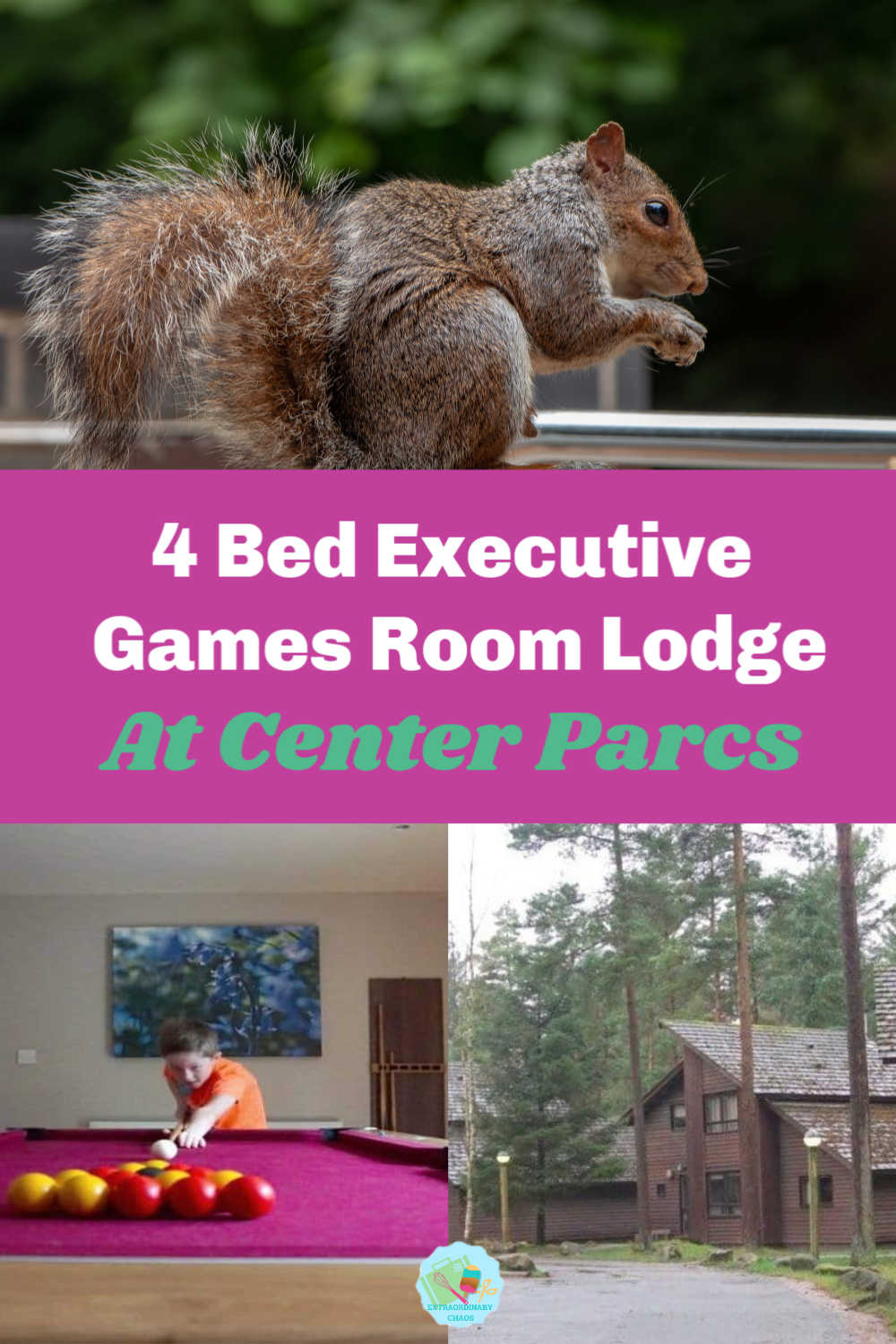 4 Bedroom Executive Lodge With Games Room At Center Parcs