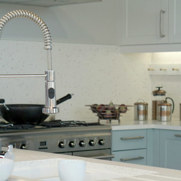 Blue Shaker Style Kitchen www.extrordianrychaos.com