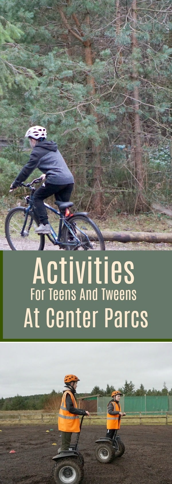 Activities For Teens And Tweens At Center Parcs, Including Adrenaline Activities such a climbing and zip wires, segway experience and some lower cost activities
