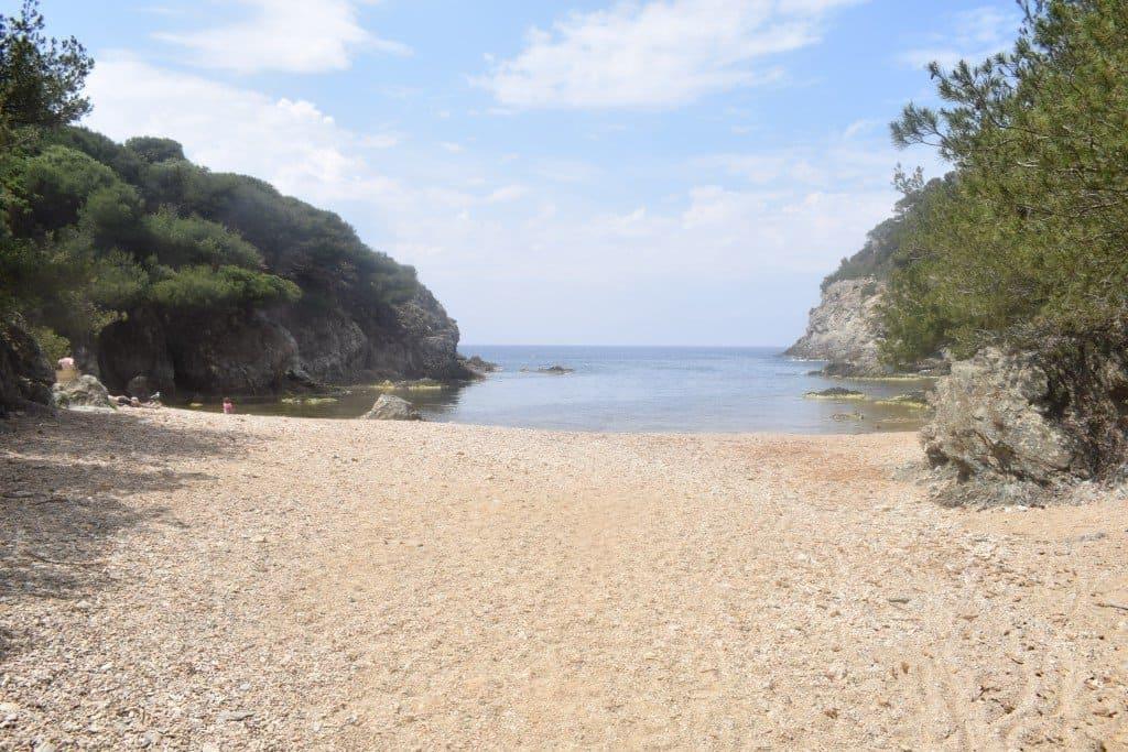 Beaches on Ile de Porquerolles, France