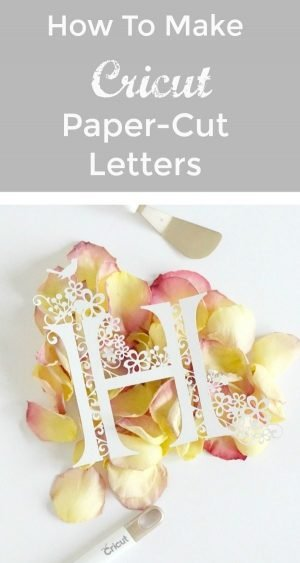 How to make paper-cut letters with the Cricut Maker, a guide on how to design and cut perfects gifts fro weddings, christenings and birthdays.