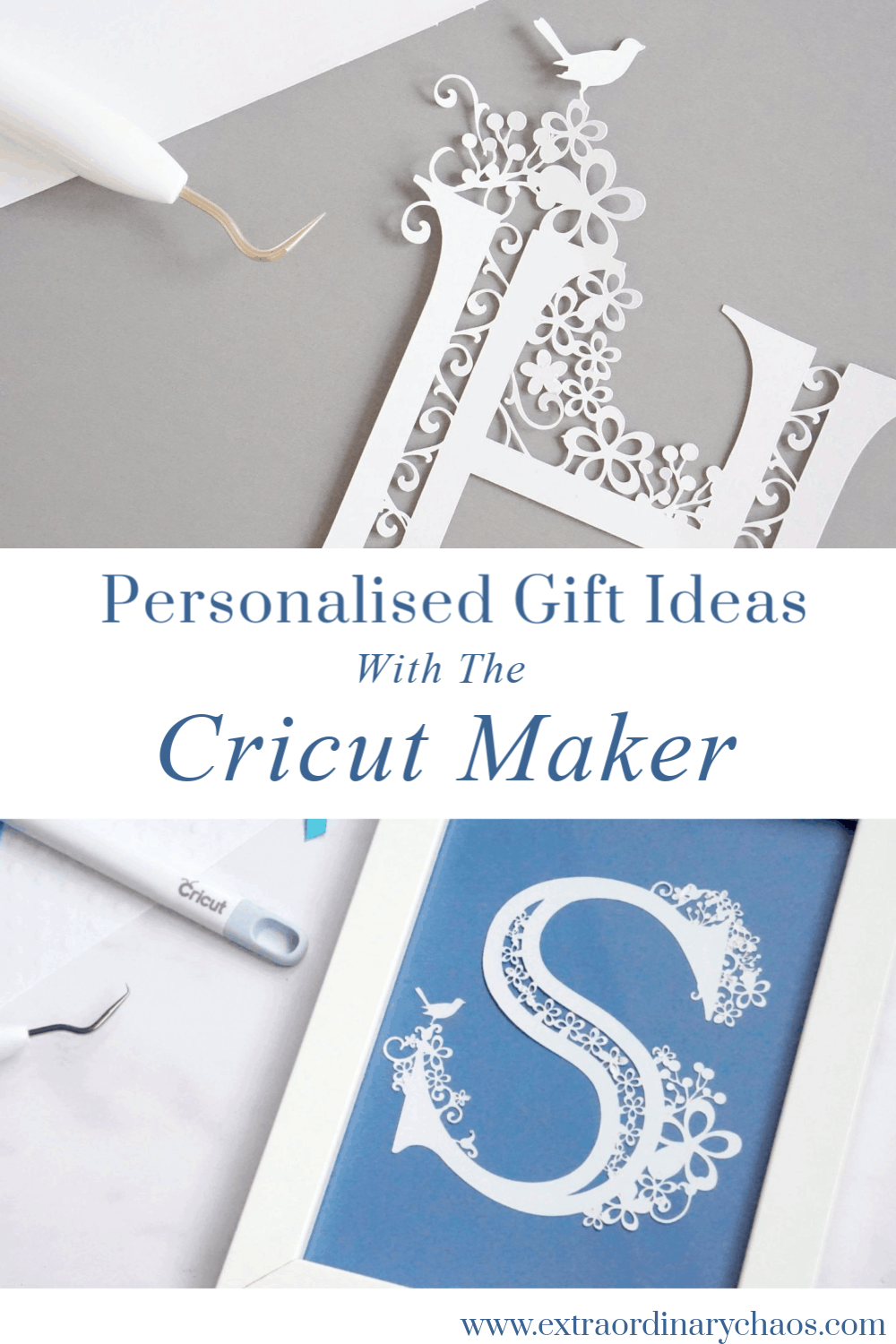 Personalised Gift Ideas for Weddings, Christenings and Birthdays with the Cricut Maker #personalisedgift #weddinggift #christeninggift #papercuts
