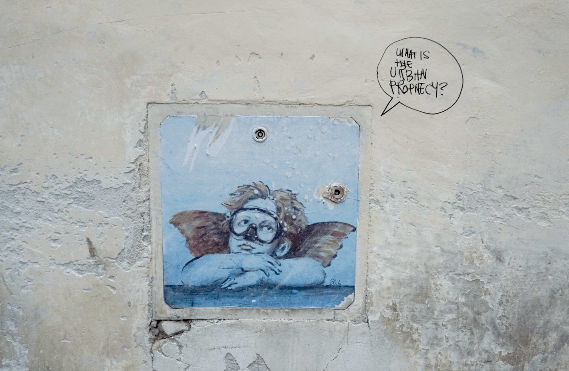 Exploring street art in Florence as part of a guided tour