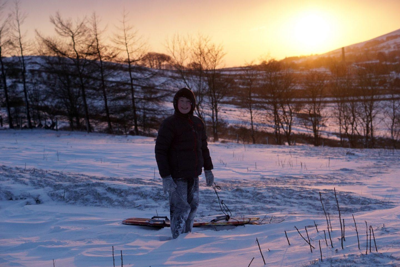Sledging at Sunset www.extraordinarychoas.com