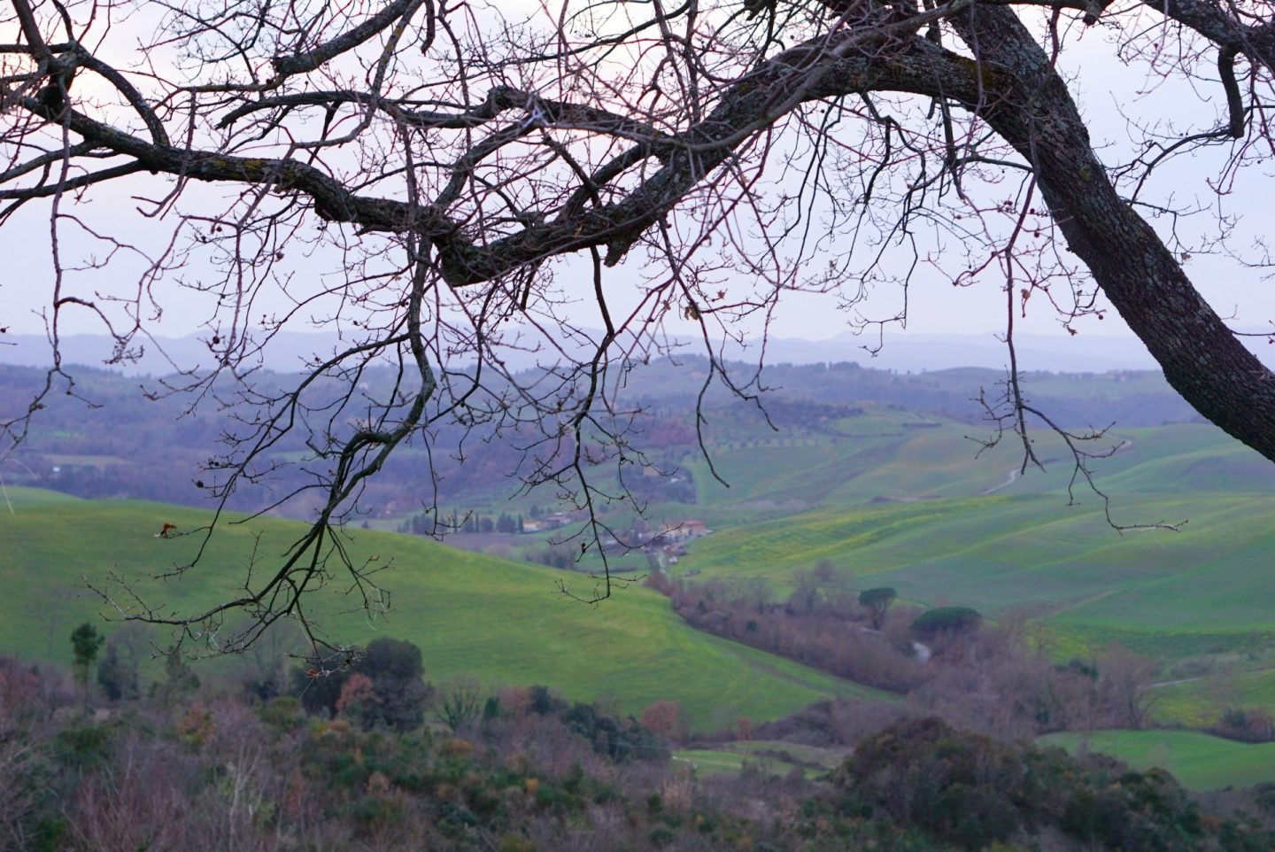Tuscan Hills from the Country Relais & Spa Le Capanne is a 100+ year old farmhouse www.extraordinarychaos.com