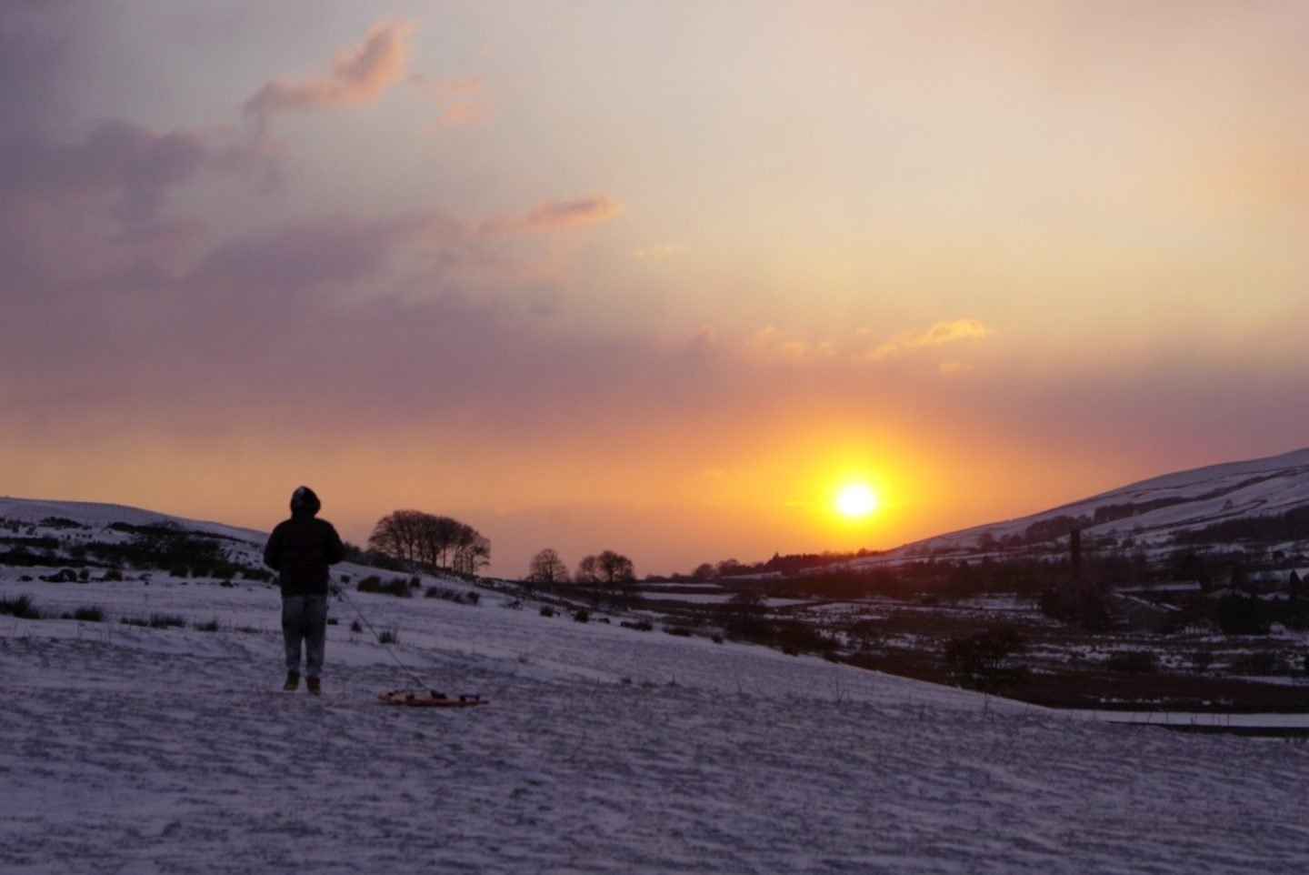 Walking at sunset in the snow www.extraordinarychaos.com