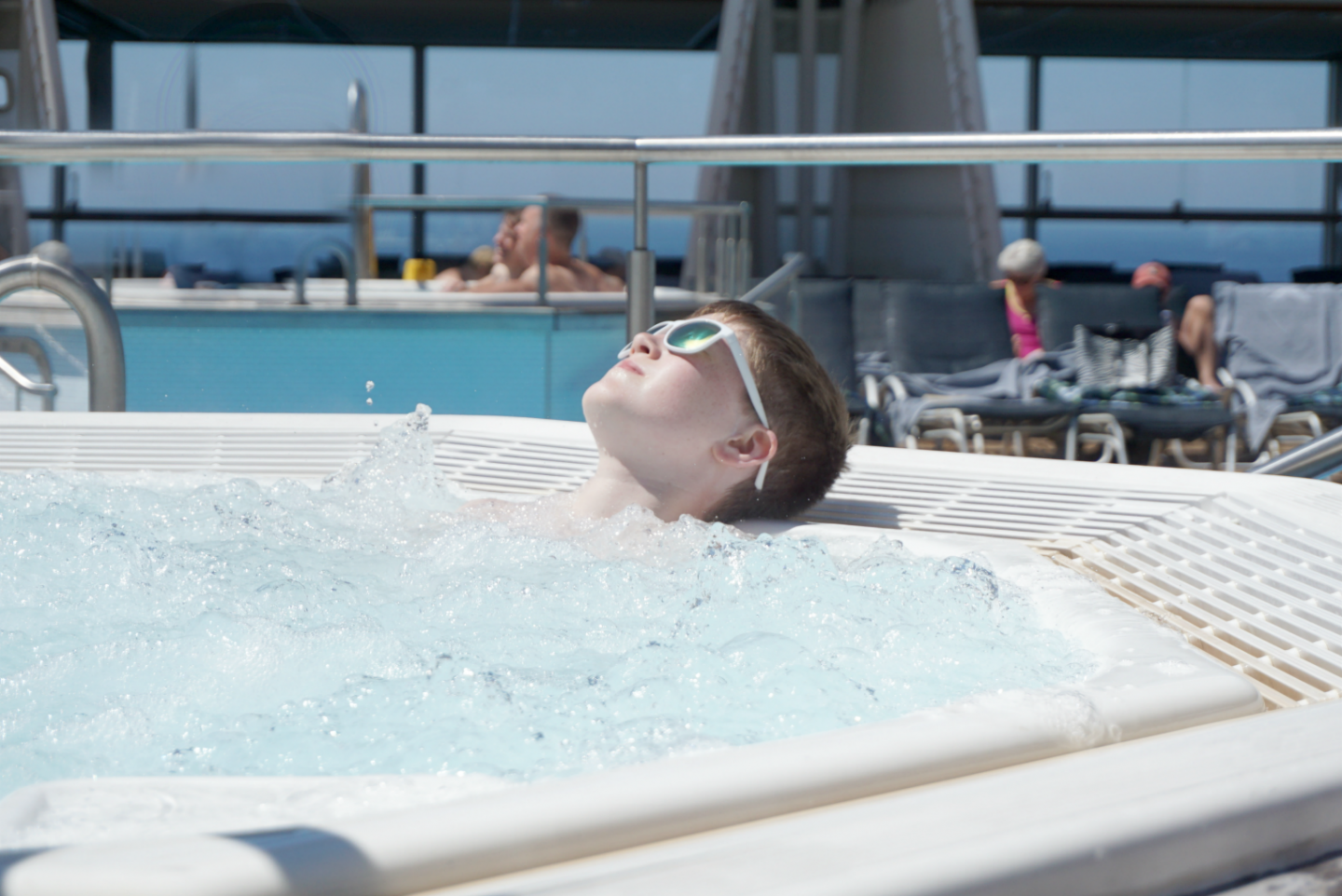 Chilling in the Jacuzzi onboard Celebrity Silhouette